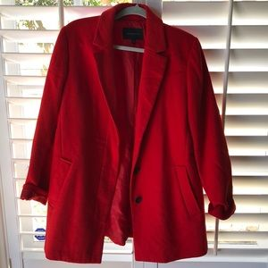 Banana Republic Pea Coat Red NWOT